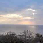 大社から見た日本海